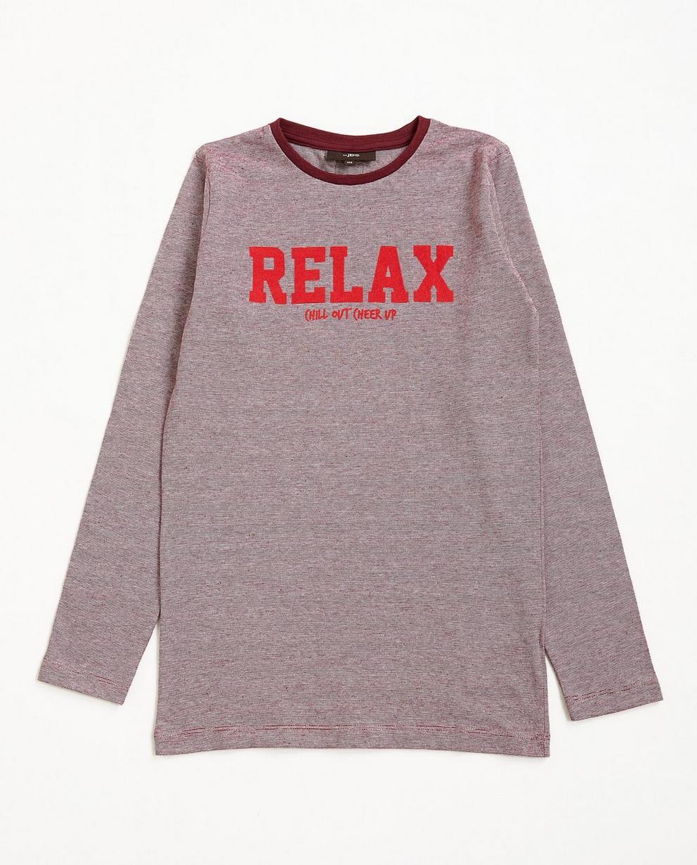 T-shirt à manches longues - rouge avec une inscription - JBC